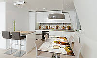 Наклейка на стол Zatarga «Бочки» 650х1200мм для домов, квартир, столов, кофейн, кафе