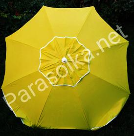 Зонт пляжний Жовтий яскравий брезентовий 2,1 метра