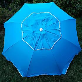 Зонт пляжний Бірюзовий брезентовий на 10 спиц2,1 метра