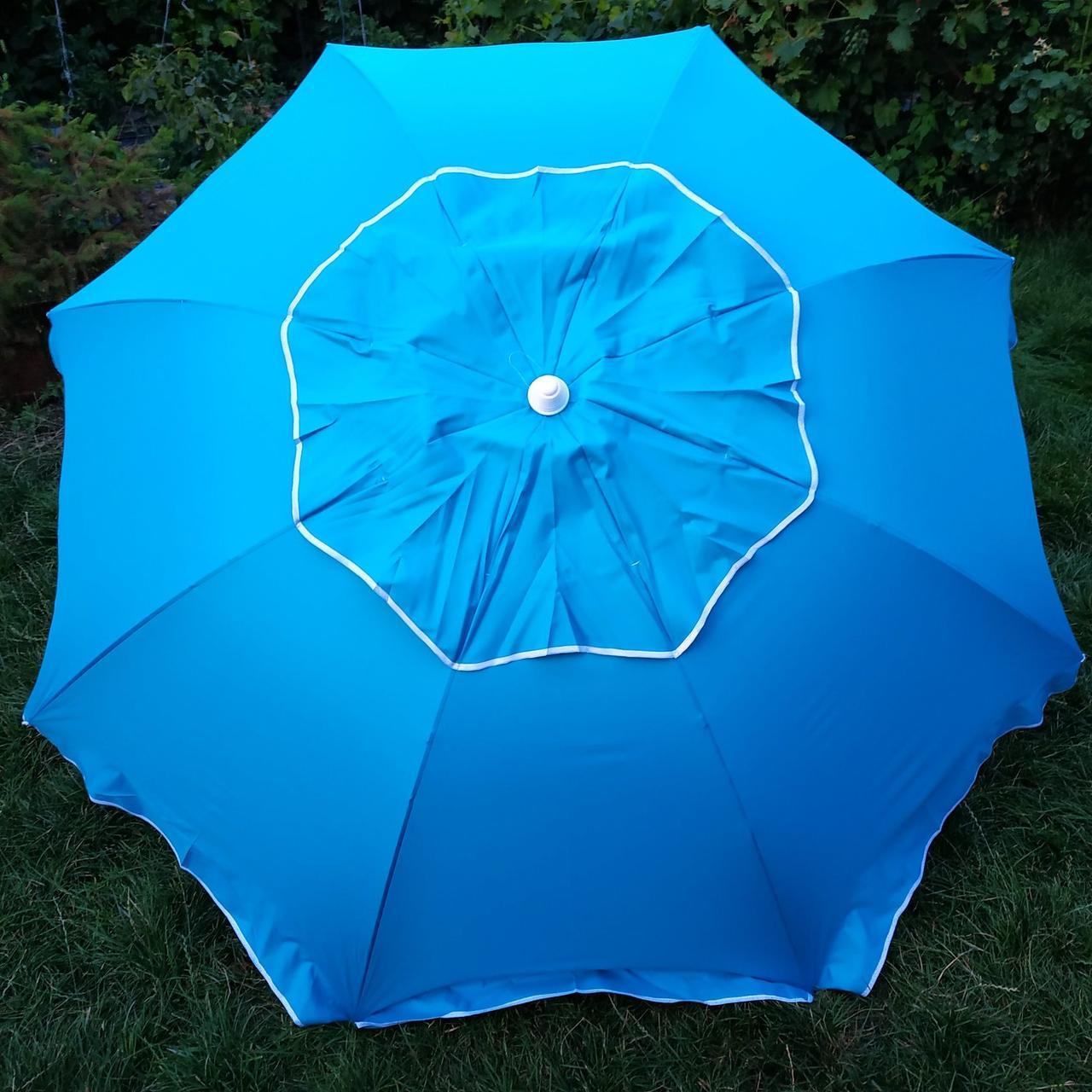 Зонт пляжный Бирюзовый 2,1 метра брезентовая ткань