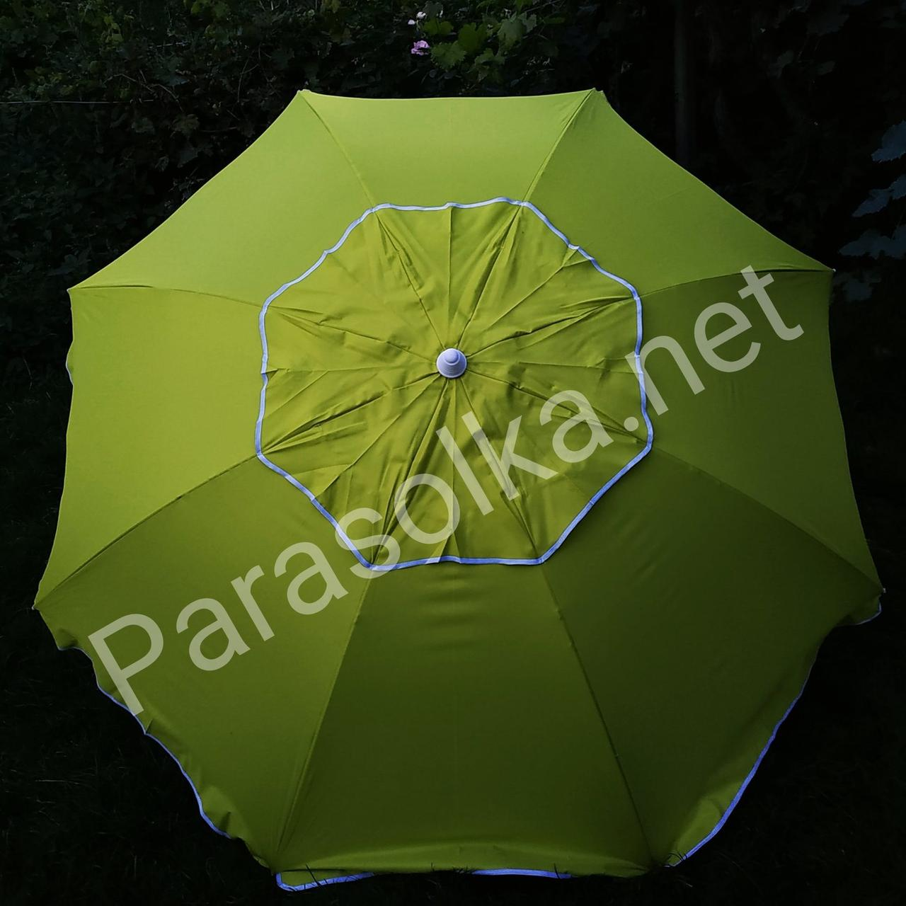 Зонт пляжний жовто - гірчичного кольору 2,1 метра брезентовий тканина