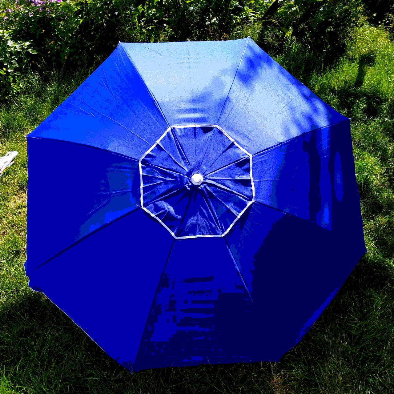 Зонт пляжний Синій 1,8 метра посилений