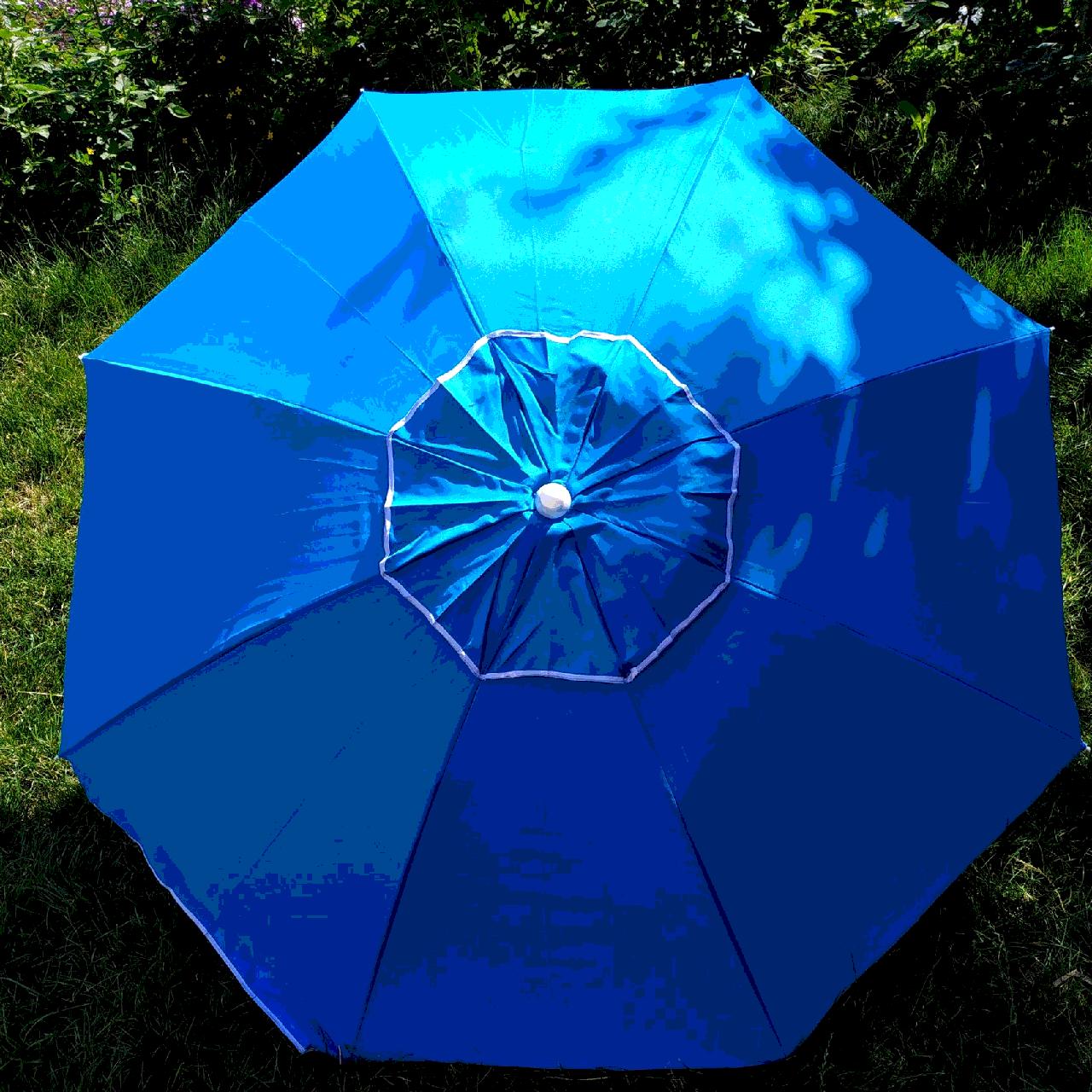 Зонт пляжный Голубой  1,8 метра усиленный
