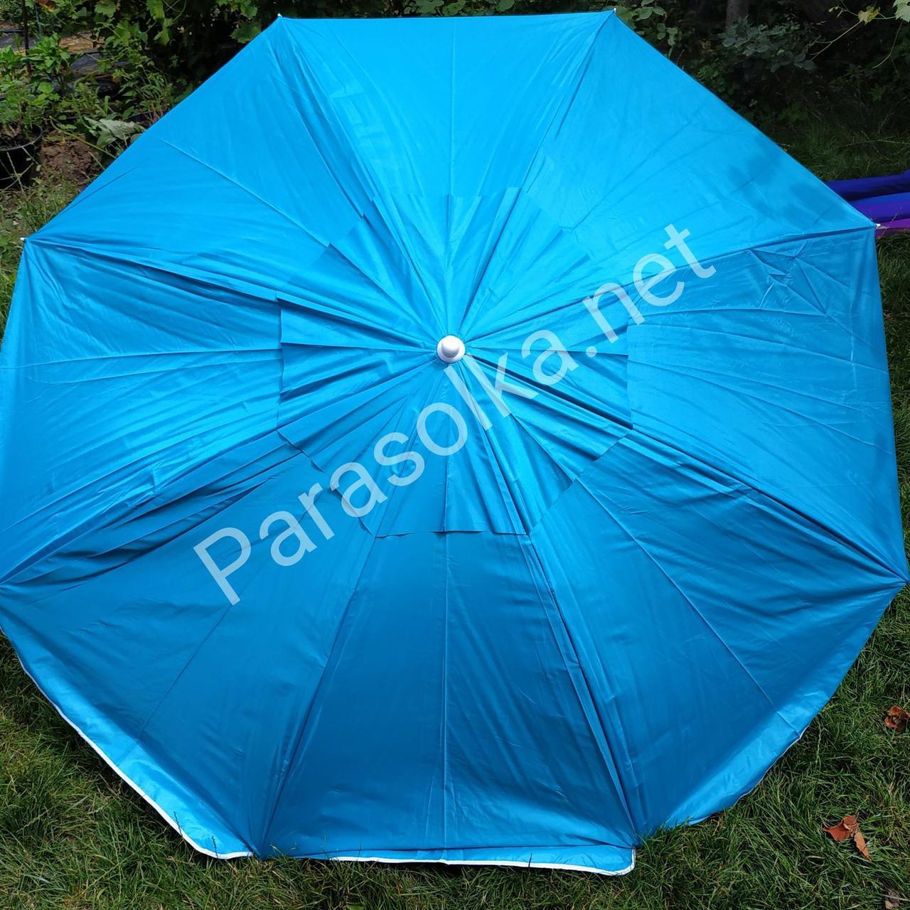 Пляжный зонт бирюзовый 1,8 метра усиленный