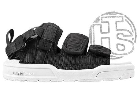 Чоловічі сандалі New Balance Beach Couple Sports Sandals Black White, фото 2