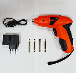 Аккумуляторный мини шуруповерт (электрическая отвертка) TUOYE Cordless Screwdriver