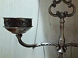 Оловянный винтажный канделябр на две свечи, Европа, фото 8