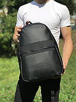 Качественный городской кожаный рюкзак Tommy Hilfiger Черный