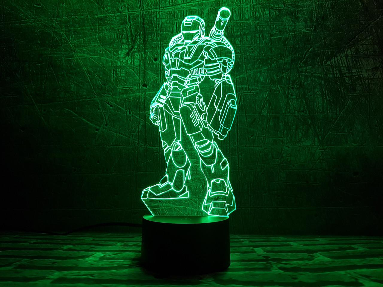 """Сменная пластина для 3D ночника """"Железный человек 3"""" 3DTOYSLAMP"""