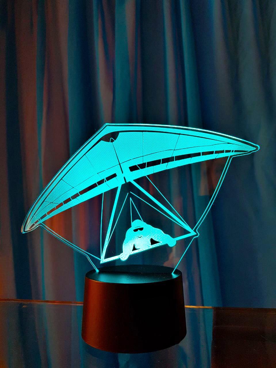 """Сменная пластина для 3D светильников """"Дельтаплан"""" 3DTOYSLAMP"""