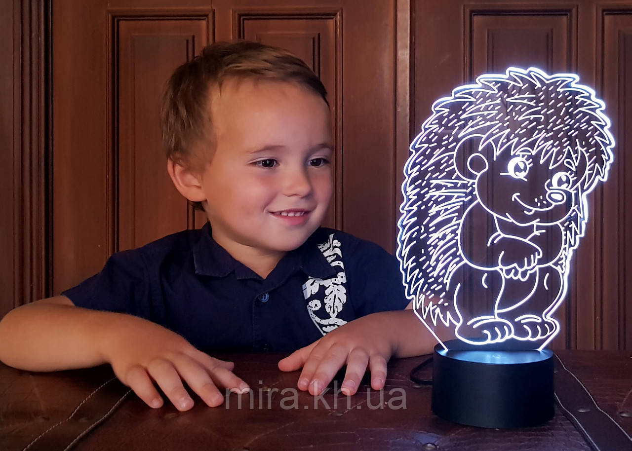 """Сменная пластина для 3D светильников """"Ежик"""" 3DTOYSLAMP"""