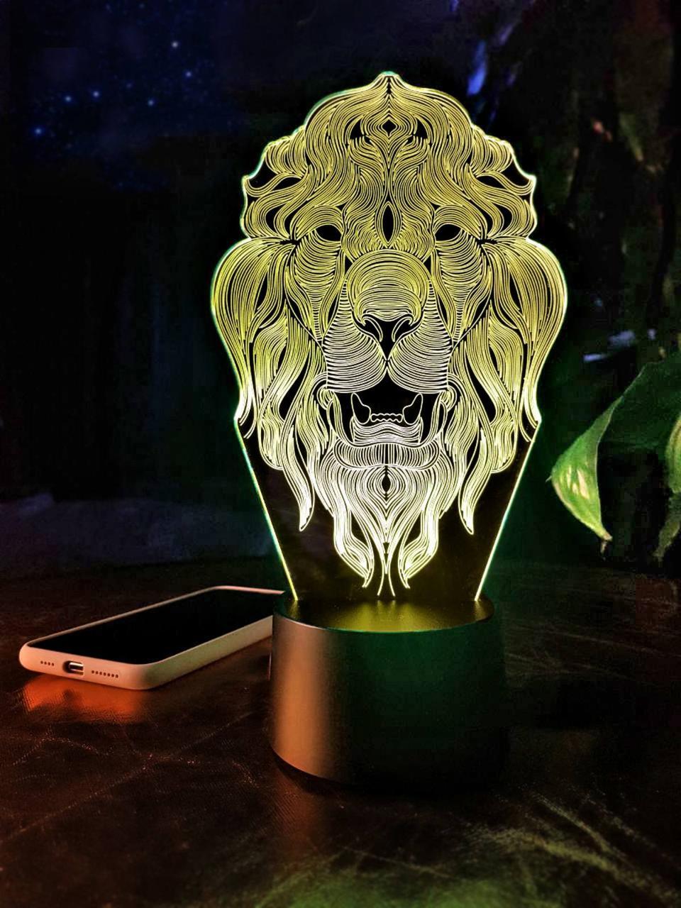 """Сменная пластина для 3D светильников """"Лев 2"""" 3DTOYSLAMP"""