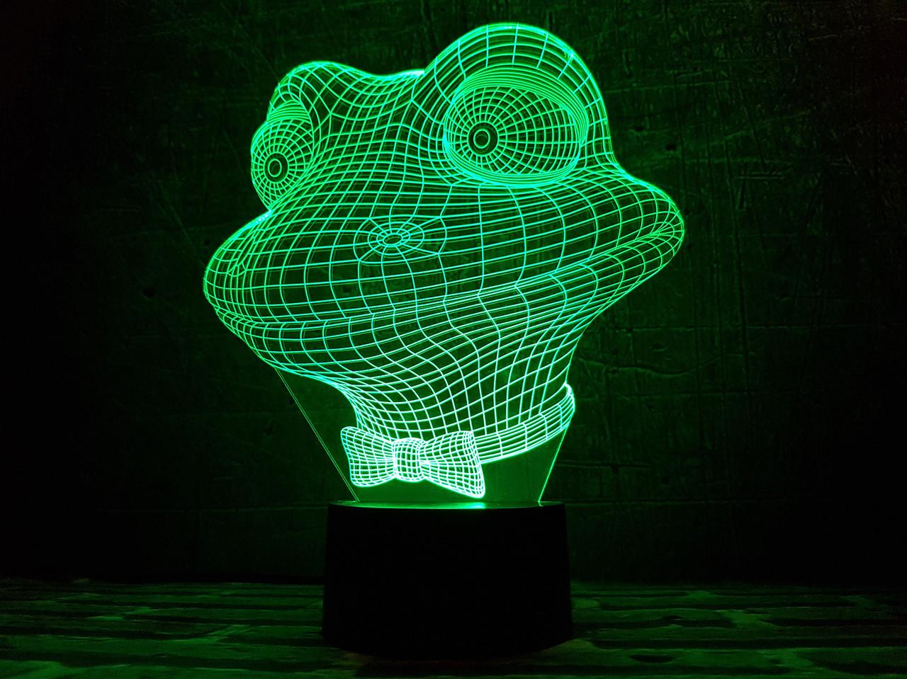 """Сменная пластина для 3D светильников """"Лягушонок"""" 3DTOYSLAMP"""