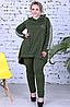 Жіночий брючний костюм з тунікою великого розміру, з 50-64 розмір