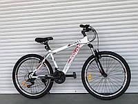 Спортивний велосипед TopRider-915 26 дюймів. Дискові гальма. Біло-червоний., фото 1