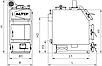 Altep Trio Uni Plus 14 кВт (Альтеп) універсальний котел тривалого горіння, на твердому паливі, фото 7