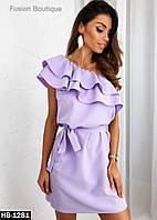 Женское нарядное платье с воланами, фото 1