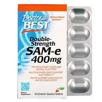 SAM-e (S-аденозилметионин) Double Strength  Doctor's Best, 400 мг, 60 таблетки,