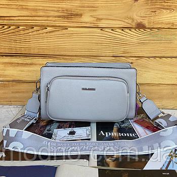 Женская двухстороння сумка на и через плечо в двух расцветках Velina Fabbiano