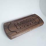 Нарды ручной работы с резьбой 46х38х4.5 см. из дерева ореха, фото 6