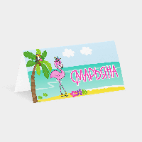 Карточка рассадки Фламинго