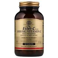 Витамин С, Ester-C Plus Solgar,1000 мг витамина С, 90 таблеток, фото 1