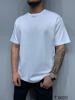 Мужская базовая футболка оversize белого цвета, фото 2