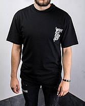 Мужская футболка оversize с Джокером черного цвета, фото 2