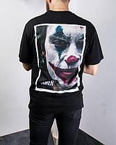 Мужская футболка оversize с Джокером черного цвета, фото 3