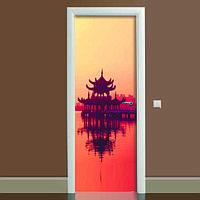 Виниловая наклейка на дверь Вдохновение (полноцветная фотопечать пленка для двери) ламинированная двойная 650*2000 мм