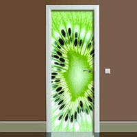 Виниловая наклейка на дверь Киви (полноцветная фотопечать пленка для двери) ламинированная двойная 650*2000 мм