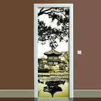Виниловая наклейка на дверь Умиротворение (полноцветная фотопечать пленка для двери) ламинированная двойная 650*2000 мм