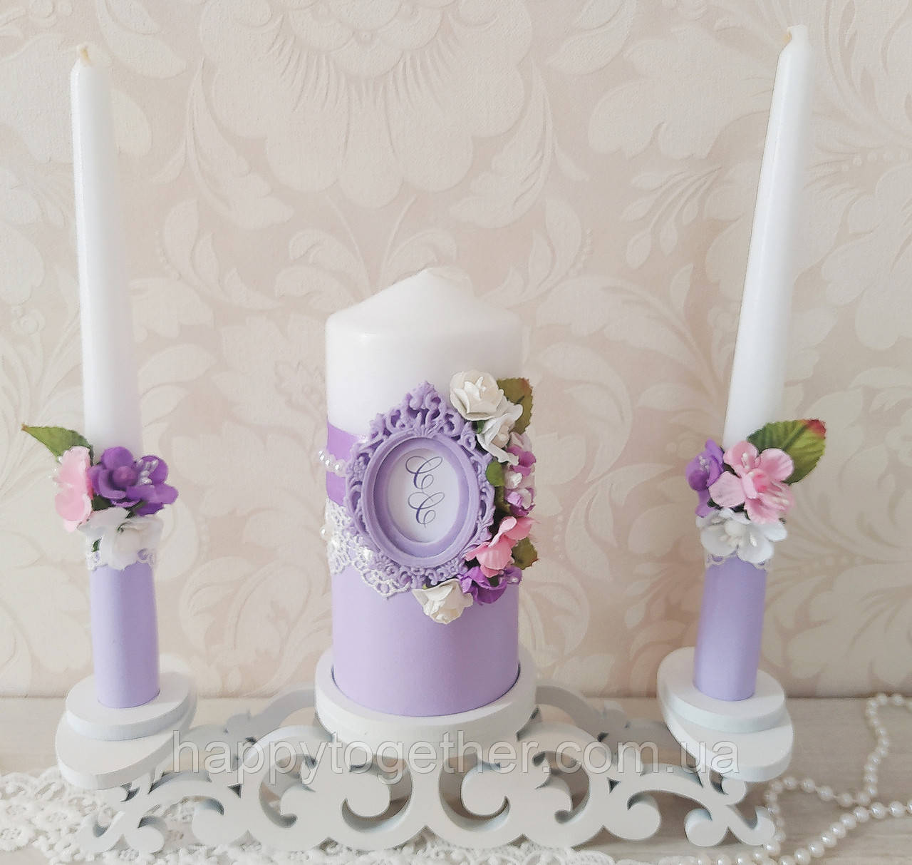 Свадебные свечи с монограммой