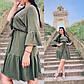 """Літнє жіноче плаття у великих розмірах 15353/2-1 """"Коттон Рукава Волан"""" в кольорах, фото 4"""