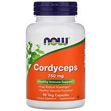 """Кордицепс NOW Foods """"Cordyceps"""" 750 мг (90 капсул)"""