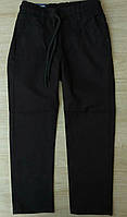 Школьные брюки 10-13 лет для мальчиков Турция оптом черные