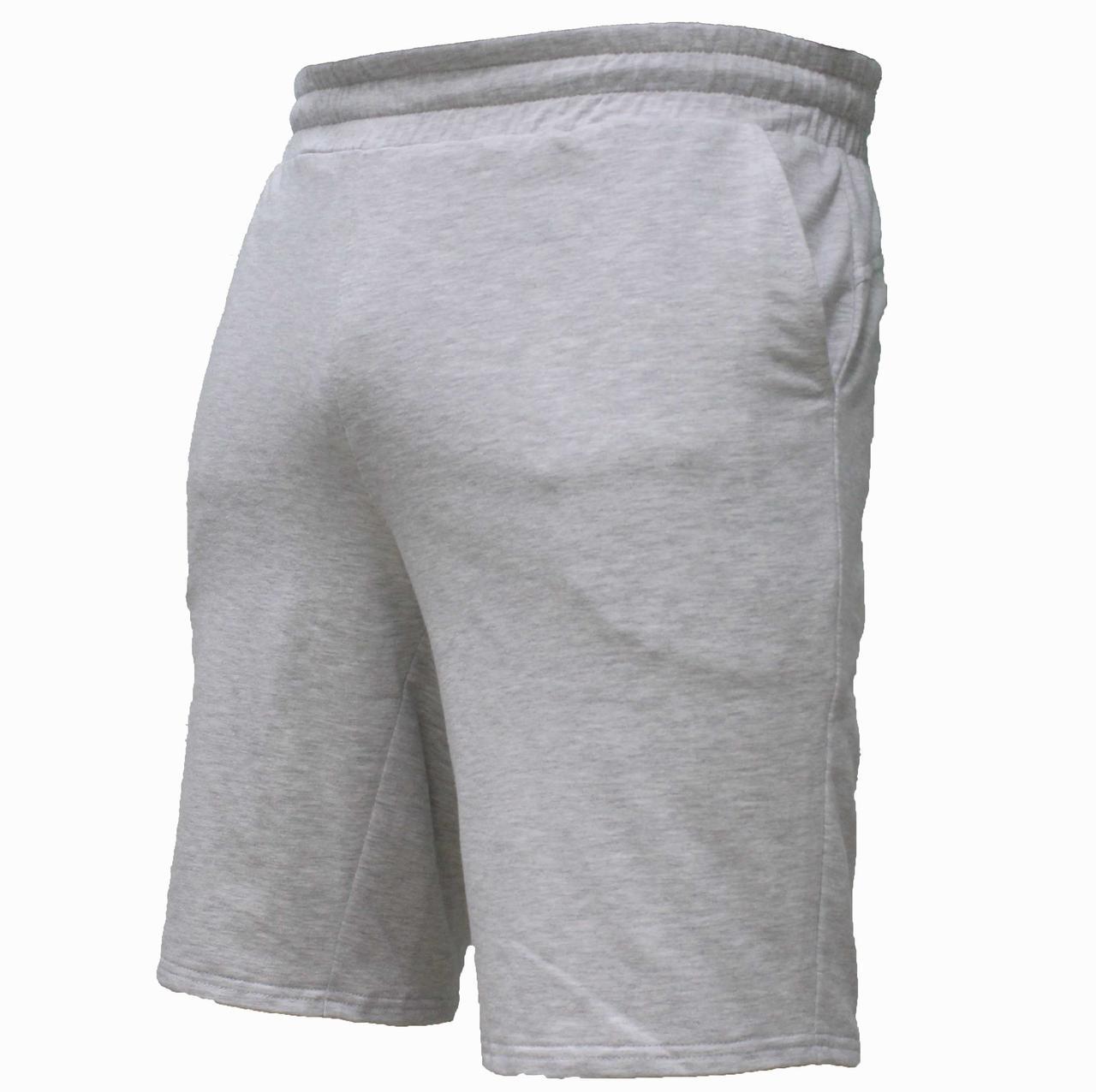 Мужские повседневные светлые трикотажные шорты серого цвета
