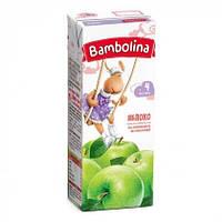 Сік 100% Яблучний Bambolina, 200 мл 0% ЦУКРУ