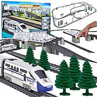 Детская железная дорога Power Train World BSQ 2181 на батарейках со скоростным поездом 42 ел