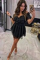Женское платье летнее с шифона и подкладка с софта, легкое, с открытыми плечами(42-46), фото 1
