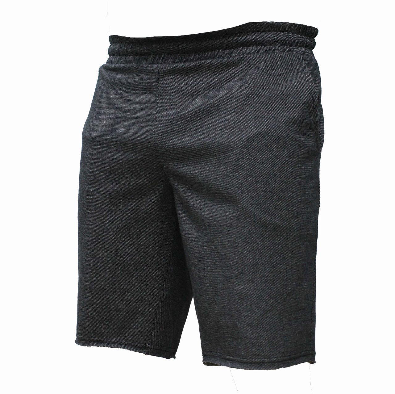 Мужские повседневные темные трикотажные шорты цвета графит