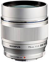 Объектив Olympus ET-M7518 75 мм 1:1.8 Silver (5971257)