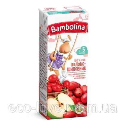 Сок 100% Яблоко-шиповник Bambolina 200 мл. 0% САХАРА