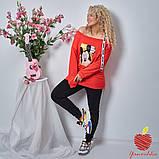 Женский костюм штаны и кофта двухнитка принт Микки Маус размер: 3(50-52), 4(54-56), фото 3