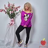 Женский костюм штаны и кофта двухнитка принт Микки Маус размер: 3(50-52), 4(54-56), фото 4