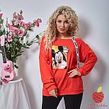 Женский костюм штаны и кофта двухнитка принт Микки Маус размер: 3(50-52), 4(54-56), фото 6
