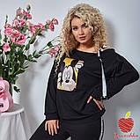 Женский костюм штаны и кофта двухнитка принт Микки Маус размер: 3(50-52), 4(54-56), фото 5