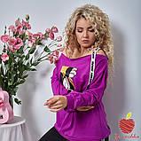 Женский костюм штаны и кофта двухнитка принт Микки Маус размер: 3(50-52), 4(54-56), фото 7