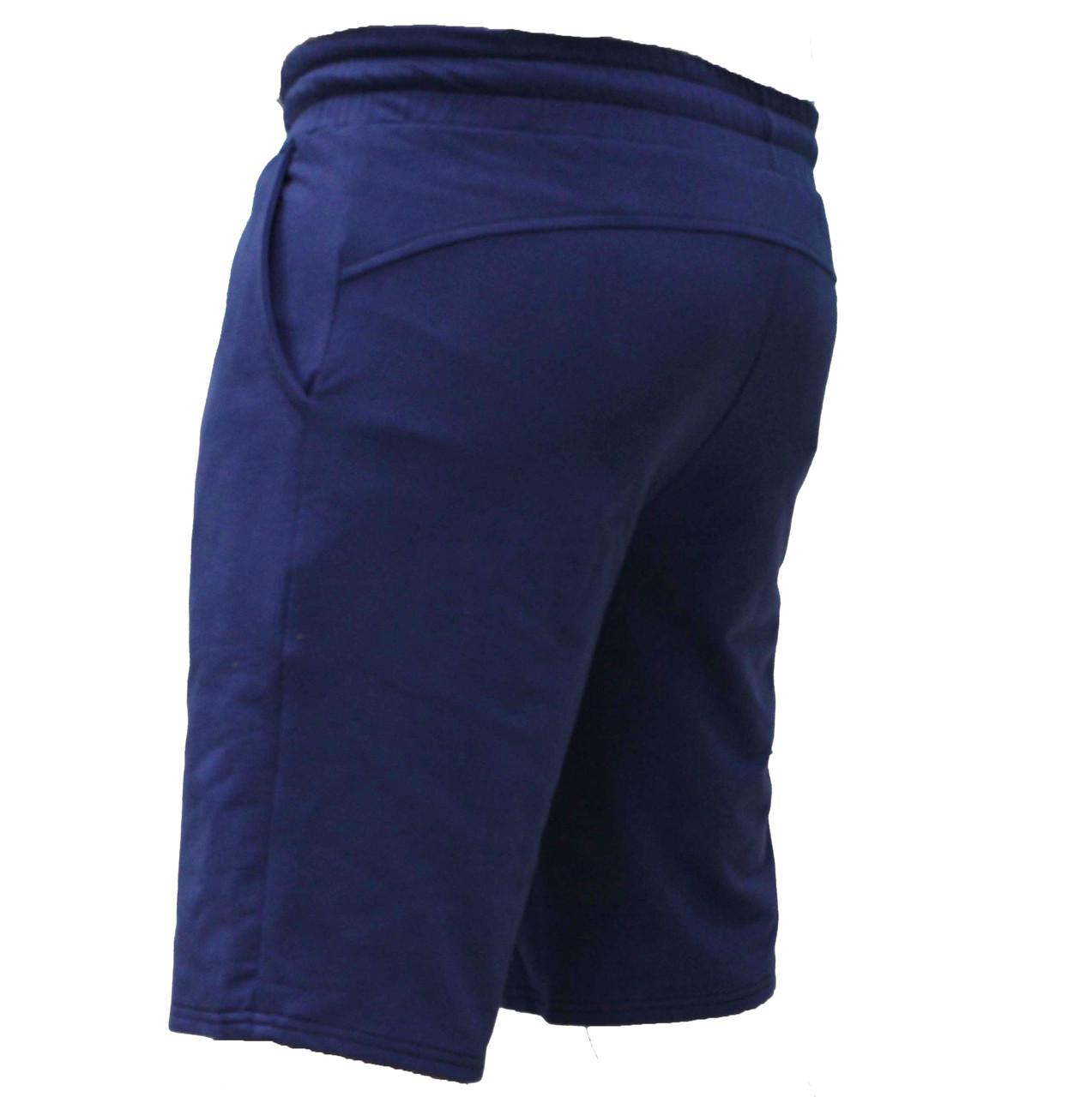 Мужские повседневные синие трикотажные шорты без надписей