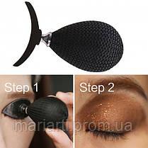 Силиконовый штамп SUNROZ Glittering Eyeshadow To Seal для нанесения теней Черный, фото 3